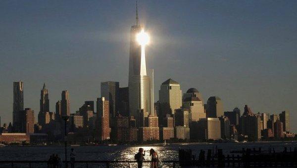 Новое здание Всемирного торгового центра в Нью-Йорке