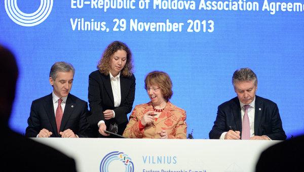 Молдавия парафировала соглашение об ассоциации с ЕС  на саммите Восточного партнерства