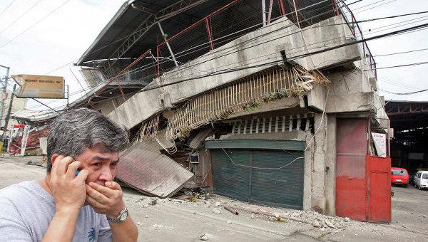 Последствия землетрясения на Филиппинах. Архивное фото