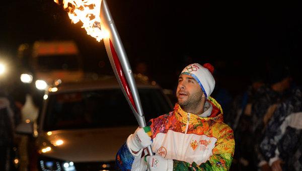Эстафета Олимпийского огня. Москва. Иван Ургант