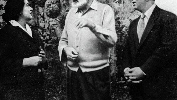 Композитор Хачатурян и писатель Хемингуэй