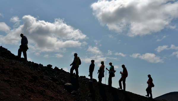 Работа вулканологов