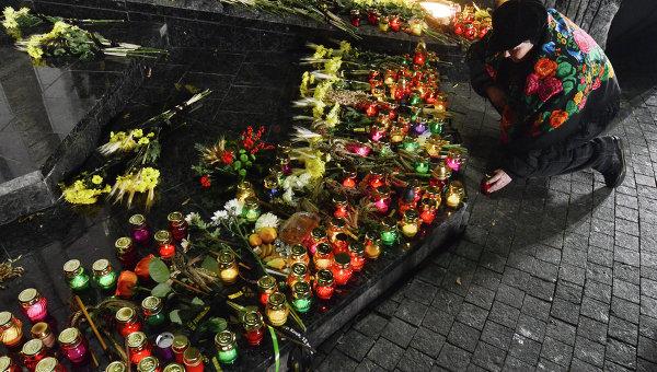 Церемония в память о жертвах Голодоморов в Украине