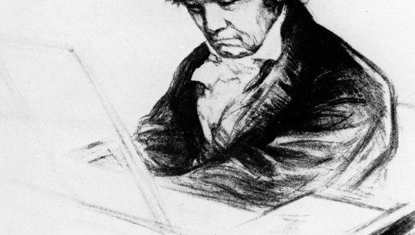 Рисунок Людвиг ван Бетховен