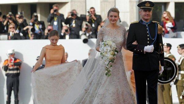 Cвадьба принца Гийома Люксембурга и бельгийской графини Стефани де Ланнуа