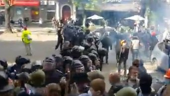 Массовая драка в центре Одессы