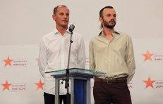 Журналисты ТК Звезда Андрей Сушенков и Антон Малышев (слева направо)
