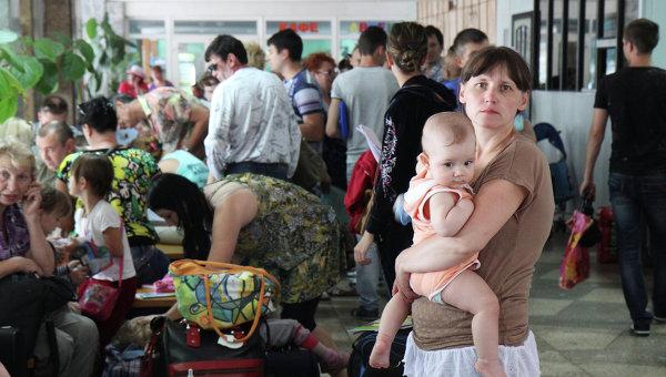 Беженцы из Юго-Востока Украины