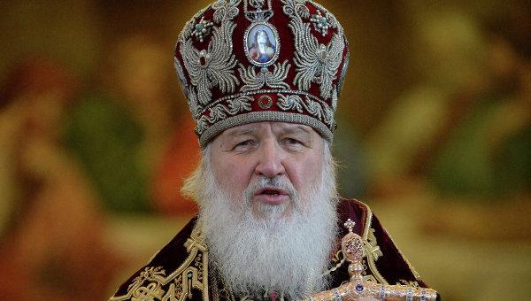 Патриарх Московский и Всея Руси Кирилл проводит