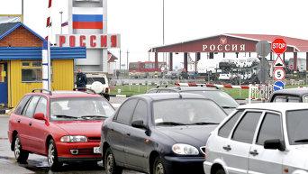 Пограничный пункт пропуска на границе Украины с РФ