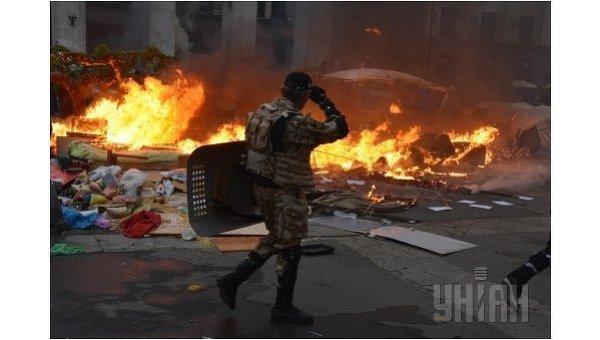 Пожар в Доме профсоюзов в Одессе. Архивное фото