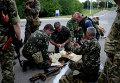 Бойцы ополчения на востоке Украины
