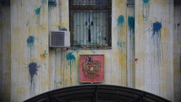 Жителей Украины обвинили внападении напосольствоРФ