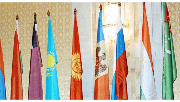 Флаги государств СНГ. Архивное фото