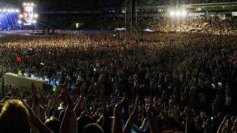 Зрители на НСК Олимпийский в Киеве