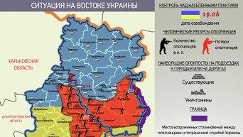 Инфографика. Ситуация на востоке Украины