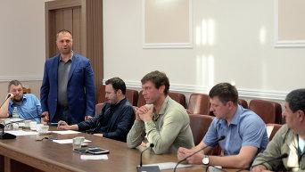 Заседание Трехсторонней контактной группы с участием Л.Кучмы, М.Зурабова и Х.Тальявини