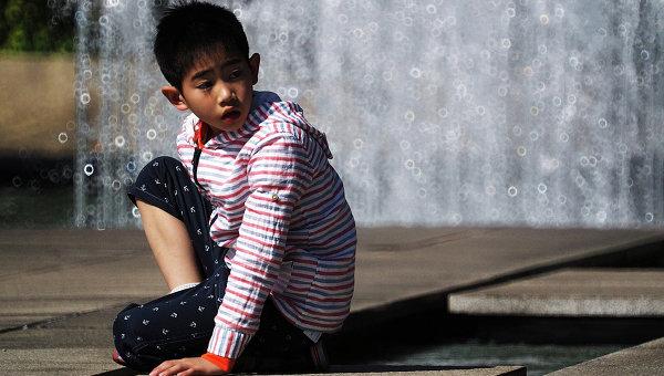 Японский мальчик. Архивное фото