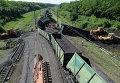 Вагоны грузового поезда сошли с рельсов при подрыве на Донецкой железной дороге