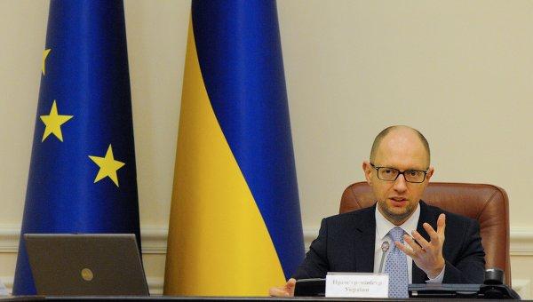 Арсений Яценюк на заседании Кабмина
