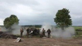 Артобстрел Славянска. Видео