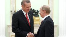 Встреча президента РФ В.Путина с Р.Эрдоганом. Архивное фото