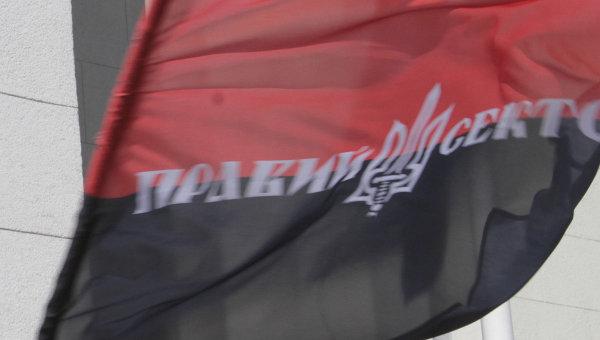 Флаг Правого сектора. Архивное фото