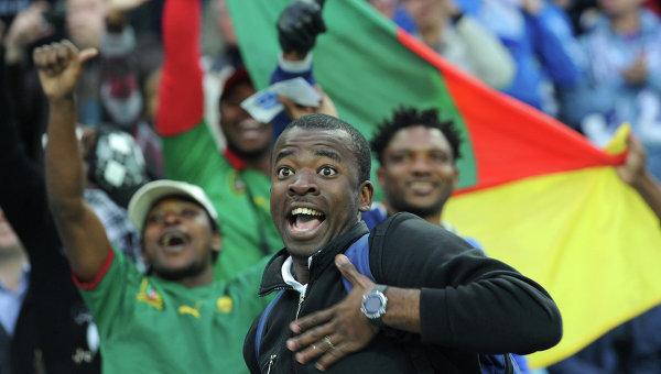 Футбол. Болельщики сборной Камеруна