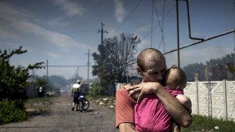 Обстрел Станицы Луганской, погибли десять человек