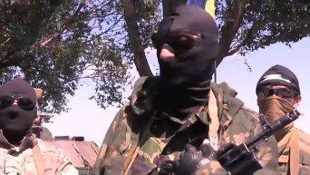 Ополченцы, перешедшие на сторону силовиков, обратились к товарищам. Видео