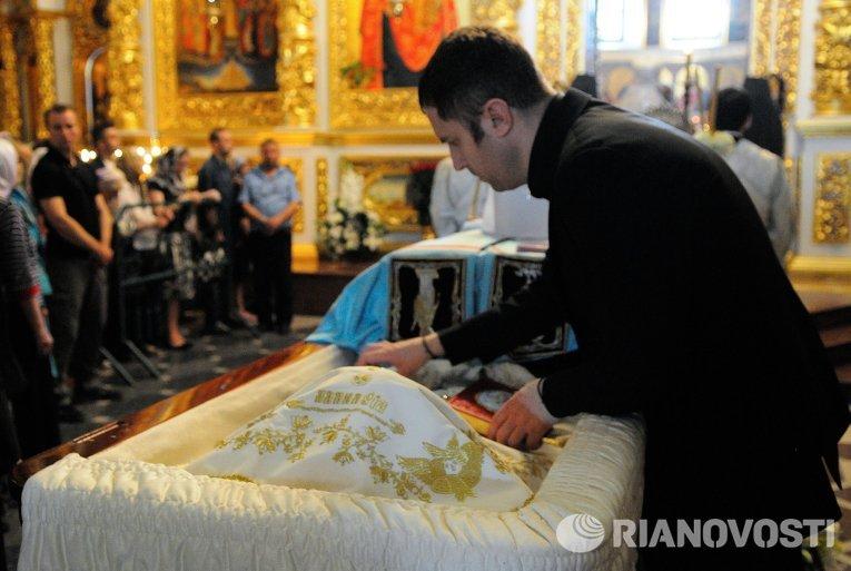 Прощание с главой УПЦ митрополитом Владимиром