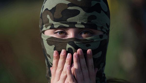 Женщина в ополчении Донбасса