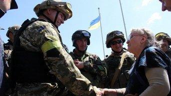Украинские военнослужащие освободили Славянск