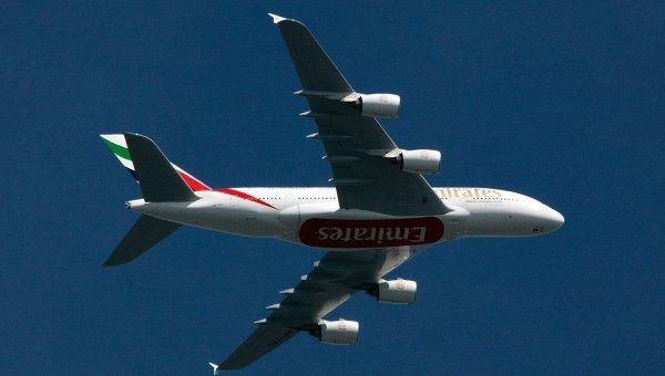 Самолет компании  Emirates Airline. Архивное фото