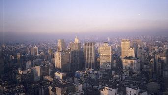 Панорама города Сан-Паулу. Бразилия