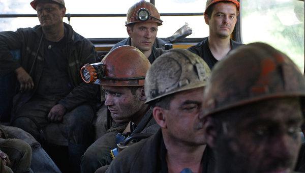 Шахтеры украинской шахты. Архивное фото
