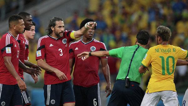 Игроки сборной Колумбии