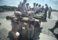Выставка оружия и документации, изъятых у боевиков на Востоке
