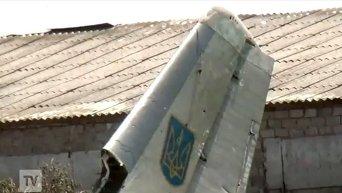 Сбитый в Луганской области самолет Ан-26. Скриншот