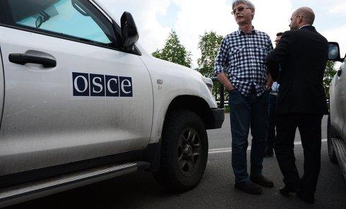 Машина наблюдателей ОБСЕ в Донецке. Архивное фото