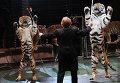 Выступление тигров - дрессировщик Николай Павленко, архивное фото
