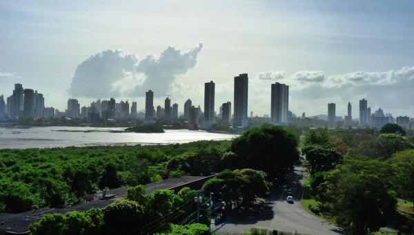 Вид на город Панаму, архивное фото