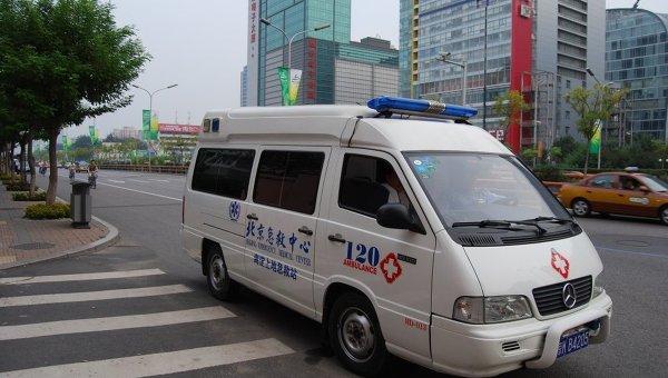 Машина китайской скорой помощи. Архивное фото
