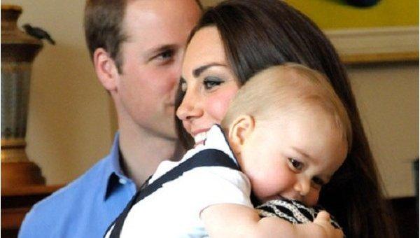 Кейт Миддлто с сыном Джорджем