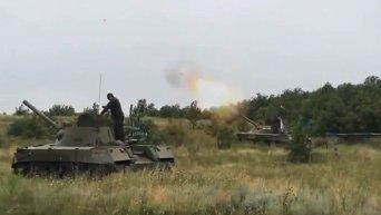 Ополчение ведет обстрел аэропорта Донецка. Видео