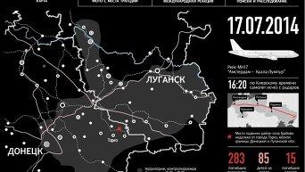 Крушение малайзийского Boeing 777 под Донецком. Инфографика