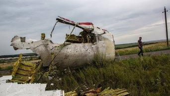 Поисковые работы на месте крушения Boeing 777