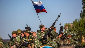Бойцы ополчения в Донецкой области. Архивное фото