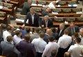 В Верховной Раде снова подрались депутаты. Видео