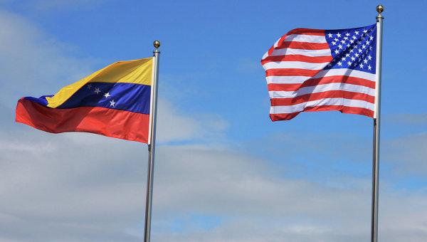 Флаг Венесуэлы и США